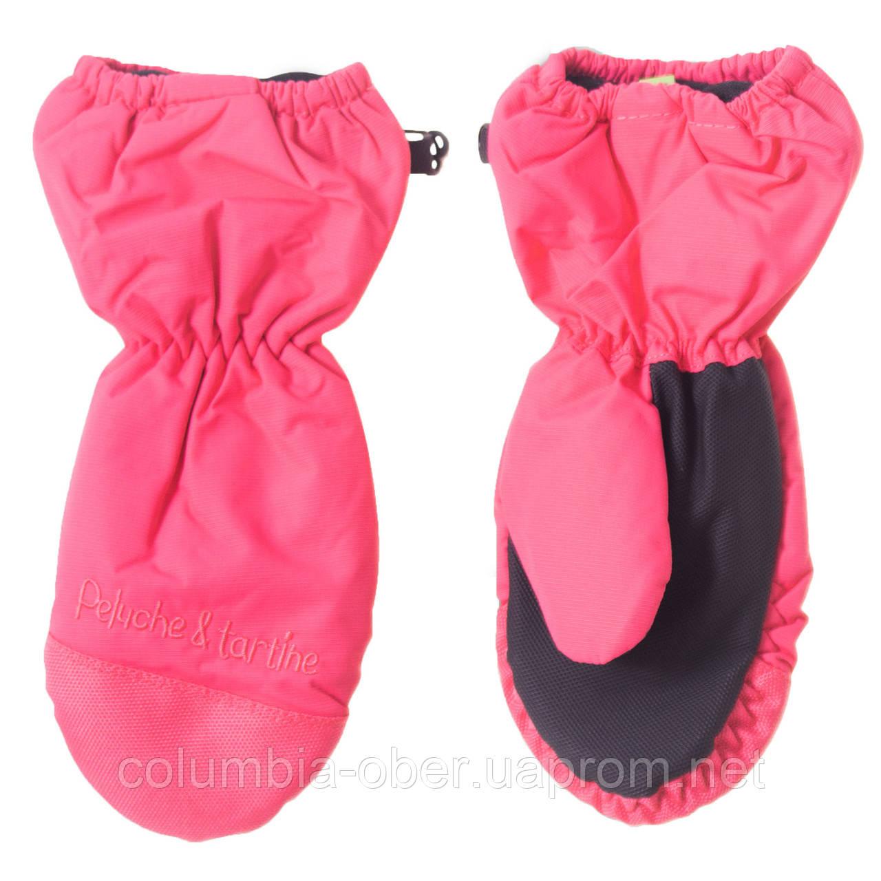 Зимние рукавицы - краги для девочки PELUCHE F18 MIT 62 EF Fraisnette. Размеры 3/4, 5/6 и  7/8.