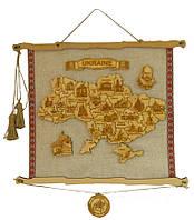 Карта Украины (английская) (Картины, панно)
