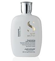Безсульфатный шампунь для блеска волос Alfaparf Milano Semi Di Lino Diamond Illuminating Low Shampoo 250 ml