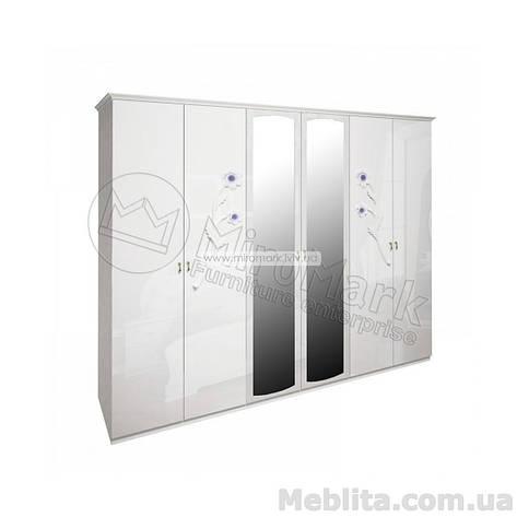 Лулу шкаф 6дв белый глянец, фото 2