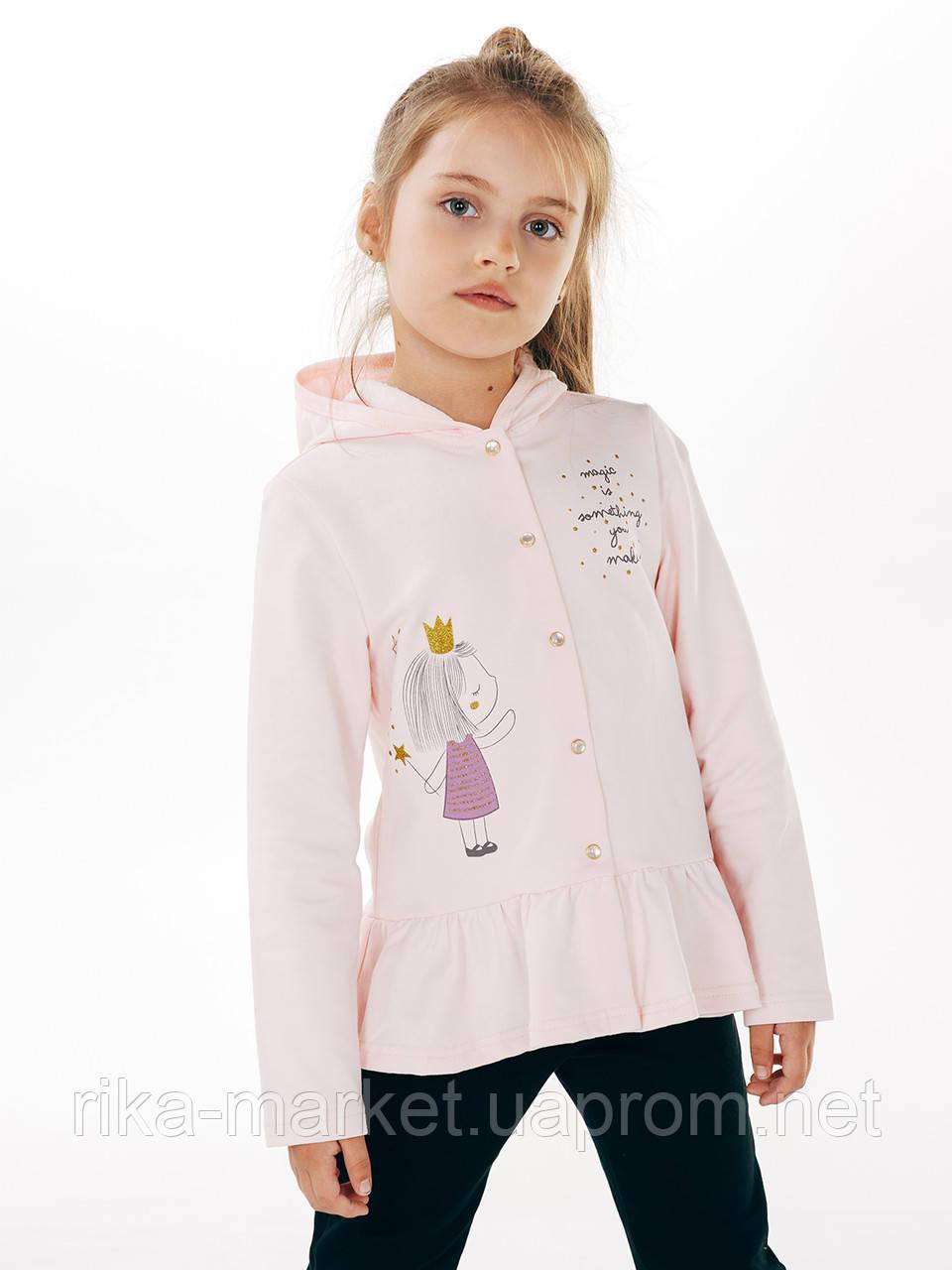 Куртка с капюшоном для девочки, арт. 116309, возраст от 2 до 6 лет
