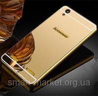 Алюминиевый чехол зеркало для Lenovo A6000 Gold
