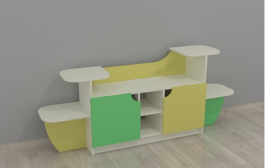Детская угловая стенка для игрушек Design Service Уголок живой природы (053)