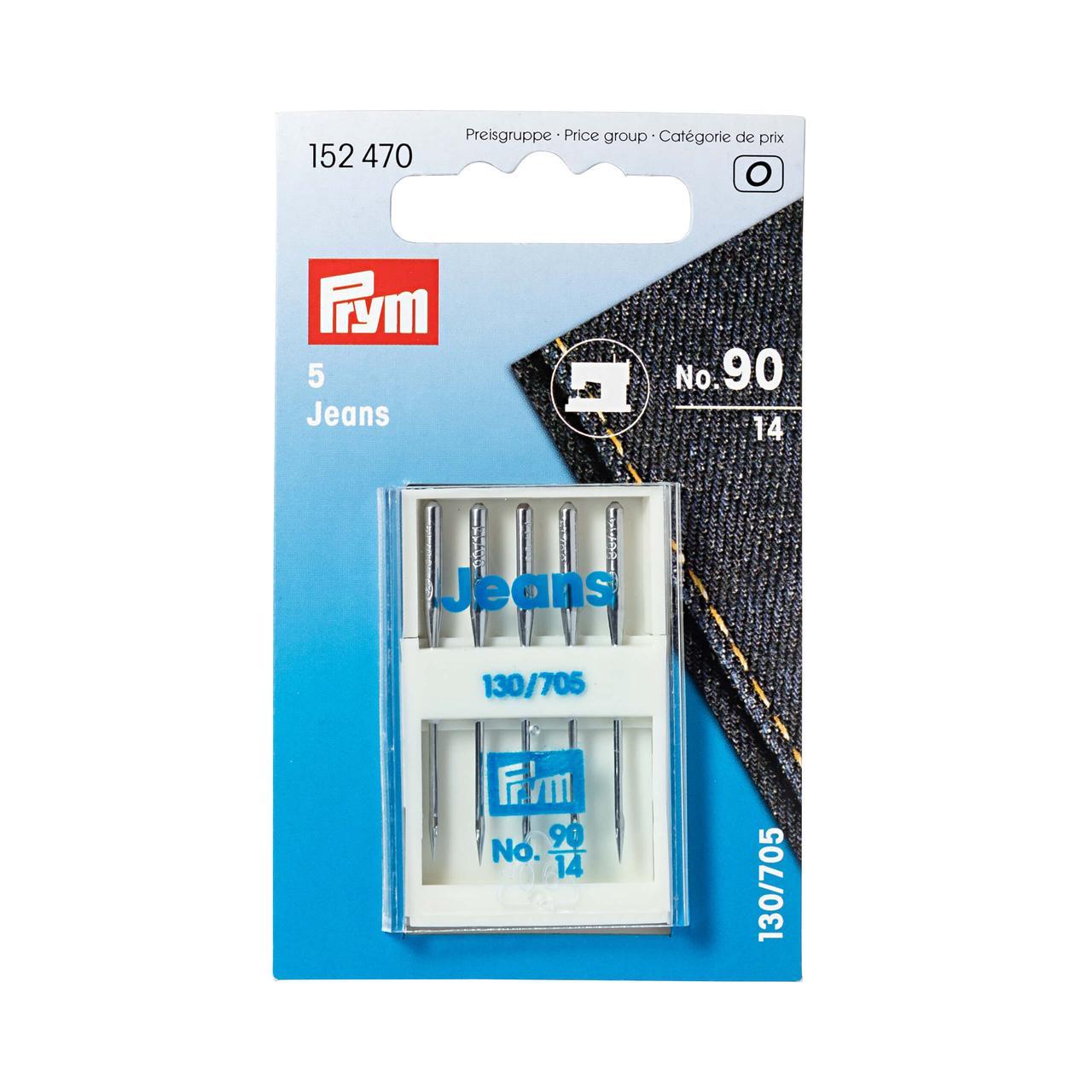 Иглы для швейных машин для джинсовой ткани Prym 152470 «Джинс» (№ 90, 130/705)