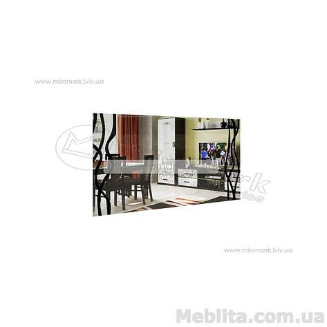 Терра зеркало глянец белый-черный мат, фото 2