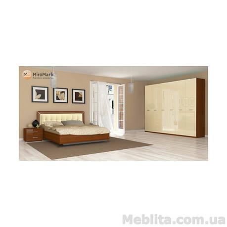 Спальный гарнитур Bella Глянец ваниль-вишня бюзум, фото 2