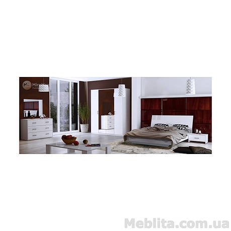 Спальный гарнитур Roma Глянец белый, фото 2