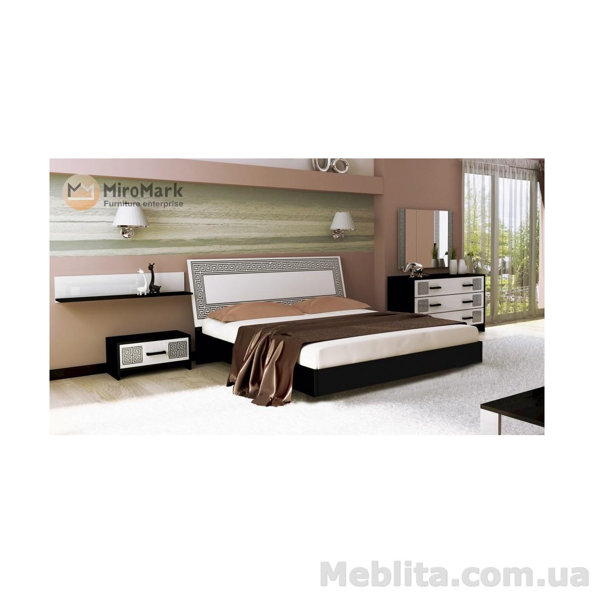 Спальный гарнитур Viola Глянец белый-черный мат