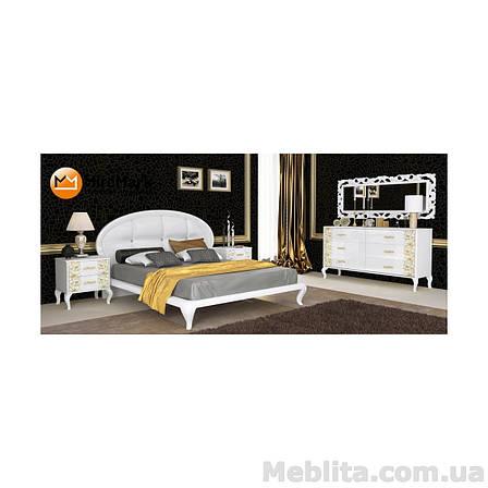 Спальный гарнитур Pionia Глянец белый-Золото, фото 2
