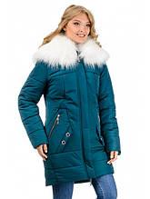 Женская зимняя куртка-парка (зелёный)