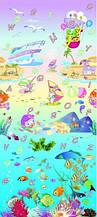 Коврик в детскую комнату Babypol Подводный мир 180х200 см