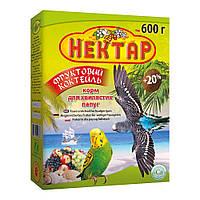 Корм Лори Нектар Фруктовый Коктейль для волнистых попугаев, 600 г