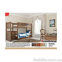 Двухъярусная кровать из массива дерева Владимир