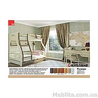 Кровать двухъярусная из массива дерева Светлана