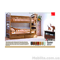Кровать двухъярусная из массива дерева Арина