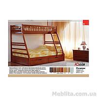 Кровать двухъярусная из массива дерева Юлия