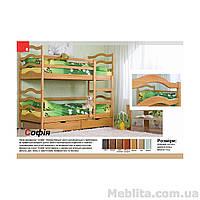Кровать двухъярусная трансформер из массива дерева София