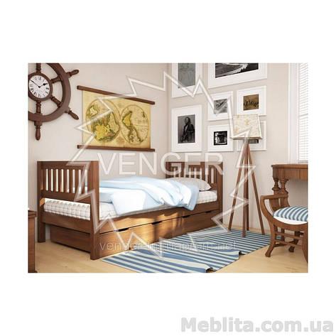 Кровать односпальная из массива дерева Максим, фото 2