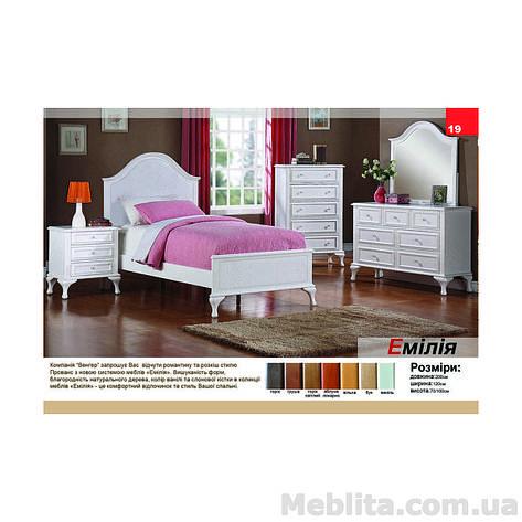Кровать односпальная из массива дерева Эмилия, фото 2