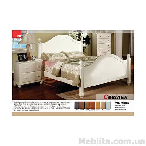 Двуспальная кровать из массива дерева Севилья, фото 2
