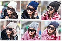 Модная современная женская шапка на флисе