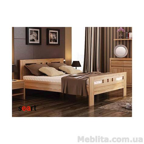 Кровать двуспальная из массива дерева Соната, фото 2