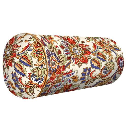 """Подушка валик """"Цветы"""""""
