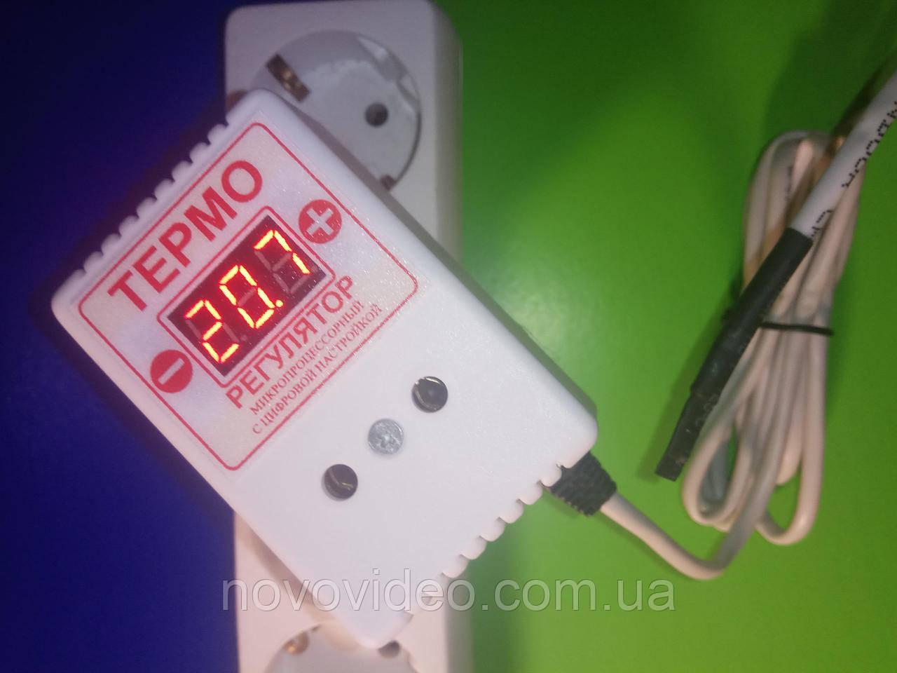 Терморегулятор на две температуры цифровой  ЦТР-2Д  на 10А
