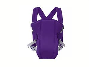 Сумка-кенгуру SUNROZ YEBD-2 Baby Carrier рюкзак для переноски ребенка Фиолетовый (SUN0982)