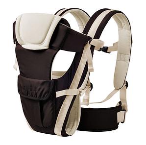 Сумка-кенгуру SUNROZ BP-14 Baby Carrier рюкзак для переноски ребенка Черно-Белый (SUN0975)