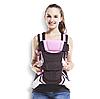 Сумка-кенгуру SUNROZ BP-14 Baby Carrier рюкзак для переноски ребенка Черно-Розовый (SUN0976), фото 3