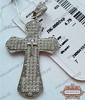 Серебряный крестик с камнями ЛК-0002хр