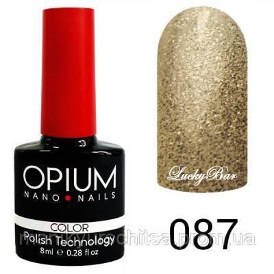 Гель лак Opium № 087 брызги шампанского 8 мл
