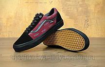 Кеды унисекс черные Кеды Vans Old Skool Pro red (реплика), фото 3