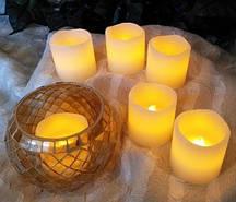 Электронные парафиновые свечи с ароматом ванили
