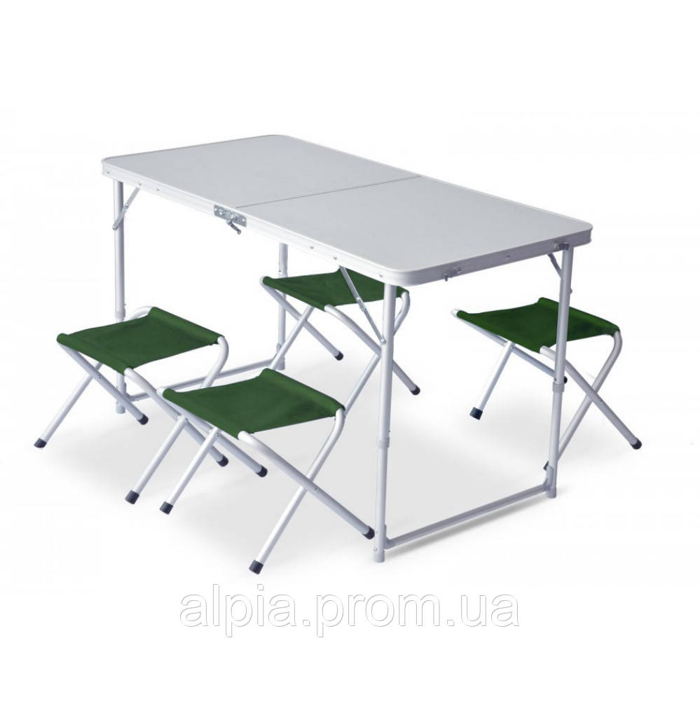 Набор мебели Pinguin Furniture set Table L with 4 Jack Stools Green (PNG 632.Green)