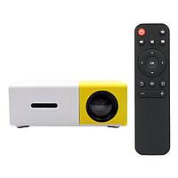 Мини проектор портативный мультимедийный с динамиком Led Projector YG300 mini. Лед видеопроектор
