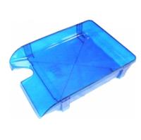 Лоток для паперу горизонтальний Economix, синій, 350х250х60 мм (E31801-02)