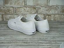 Кеды унисекс белые Vans Authentic (реплика), фото 3