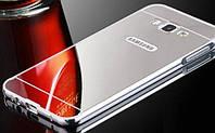 Алюминиевый чехол зеркало для Samsung Galaxy J1 (J120) 2016 Silver, фото 1