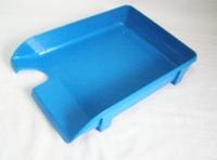 Лоток для паперу горизонтальний Economix, блакитний, 365х260х70 мм  (E31801-22)