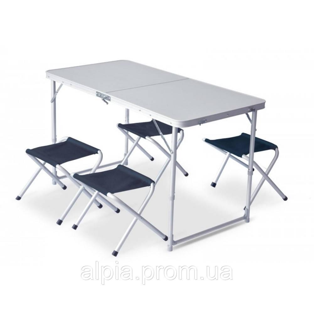 Набор мебели Pinguin Furniture set Table L with 4 Jack Stools Petrol (PNG 632.Petrol)