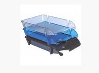 """Лоток для паперу горизонтальний ECONOMIX """"Компакт"""", синій, 365х250х60 мм (E80604)"""