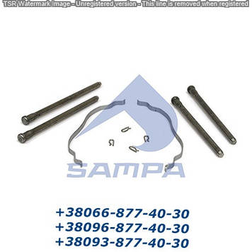 Ремкомплект крепления колодок направляющие, шплинты, 2 пружины 29090