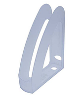 """Лоток пластиковий для паперу АРНИКА """"Радуга"""", прозорий, 230х80х300 мм (80534)"""