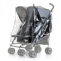Дождевик силиконовый на прогулочную коляску для двойни Marselle