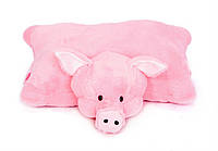 Игрушка мягкая подушка Свинка 45 см символ 2019 года отличный подарок на Новый год для детей и взрослых