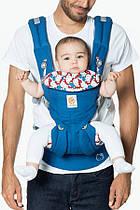Эрго рюкзак Ergobaby Omni 360 - Hello Kitty синий с рождения