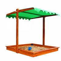 Детская песочница деревянная с крышой SportBaby, фото 1