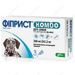 Фиприст Спот-он для собак 20-40 кг 2,68 мл 3 ампулы KRKA